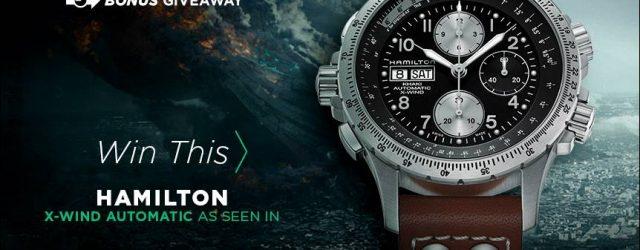 Gewinner angekündigt: Hamilton Khaki X-Wind Auto Chrono Uhr Werbegeschenk