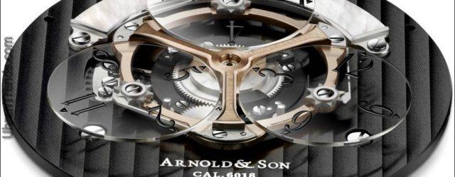 Aktualisierte Arnold & Son Golden Wheel Uhr mit Wanderstunden
