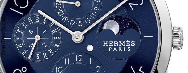 Hermès Slim D'Hermès Quantième Perpétuel Platin Uhr