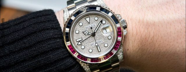 Rolex GMT-Master II 116759SARU Fabrik Gem-Set Uhr Hands-On