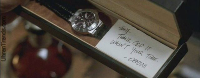 """Timepiece Kultur in der Herstellung, während Tony Stark (Iron Man) Smartwatch & traditionelle Uhr im Film """"Captain America: Civil War"""" trägt"""