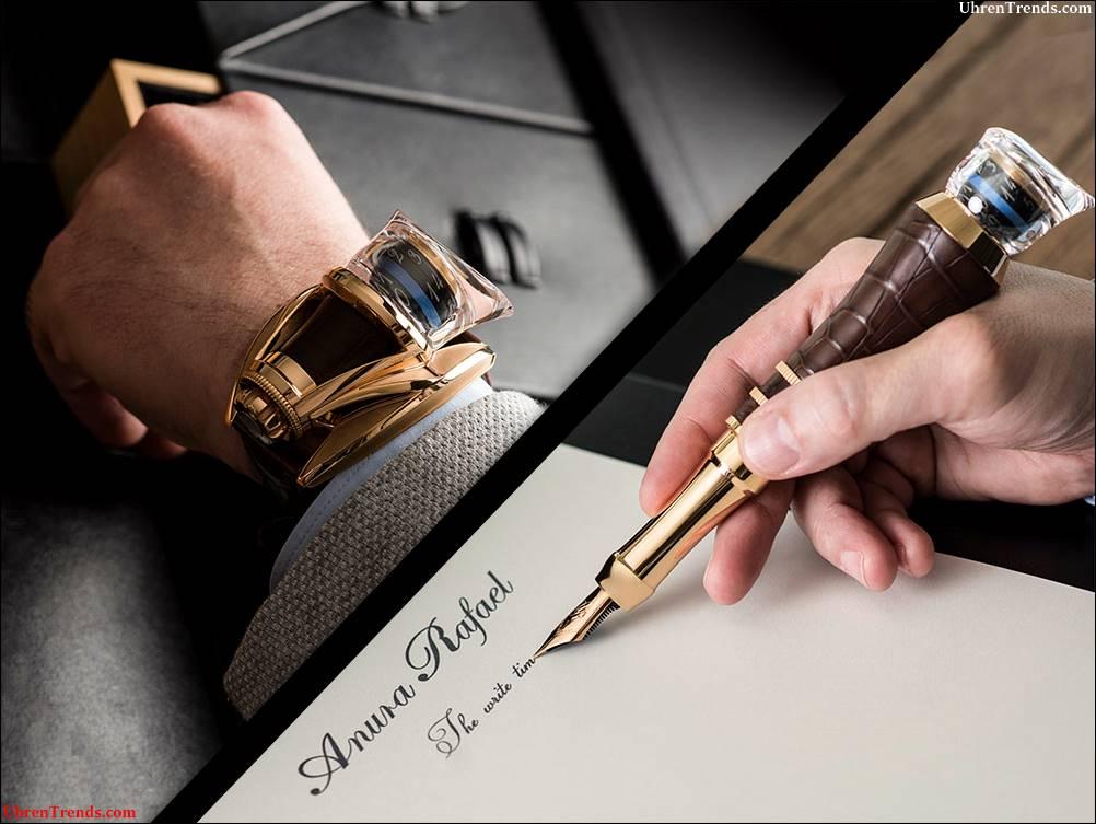 Anura Rafael Schreiben Sie Zeit Tourbillon Uhr, die ein Stift wird