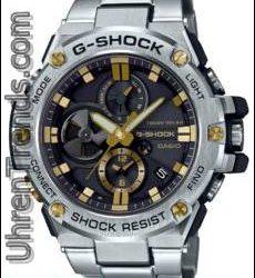 Casio G-Shock G-Stahl 'Tough Chronograph' GST-B100 Serie Bluetooth verbunden Uhren