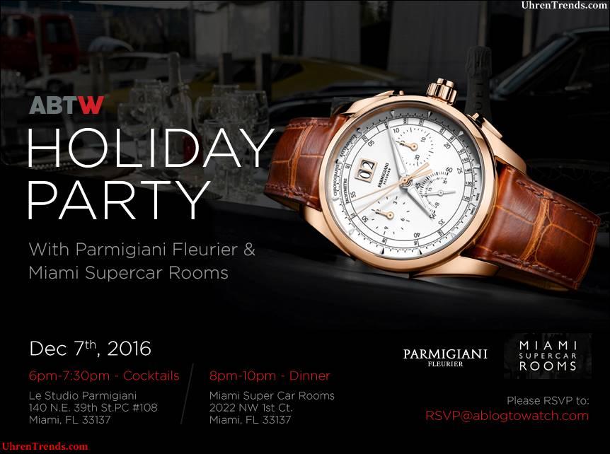 EINLADUNG: Abend mit Parmigiani Fleurier Uhren u. Superautos mit einemBlogtoWatch in Miami, Florida am 7. Dezember 2016