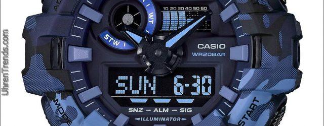 Casio G-Shock GA700CM-2A, GA700CM-3A & GA700CM-8A 'Camouflage Kollektion' Uhren