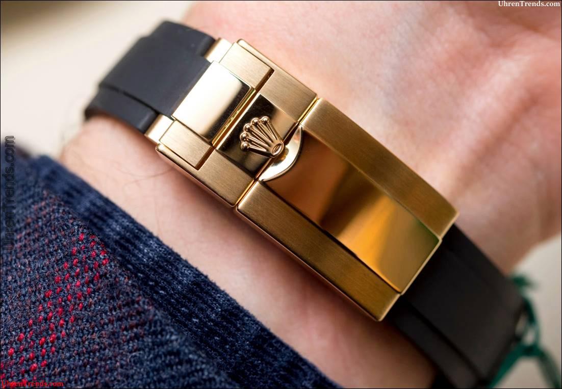 Rolex Cosmograph Daytona Uhren in Gold mit Oysterflex Rubber Strap & Keramik Lünette Hands-On