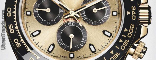 Neue Rolex Cosmograph Daytona Uhren in Gold mit Oysterflex Rubber Strap & Keramik Lünette für 2017
