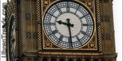 Palast von Westminsters Big Ben-Uhr auf Ihrem Handgelenk mit einer Zahn-Parlaments-Uhr