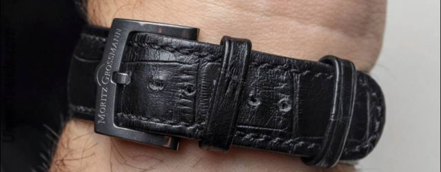 Moritz Grossmann Atum Pure M 'Mesh Dial' Uhr zum Anfassen
