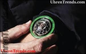 MB & F HM7 Aquapod Titanium grün Uhr