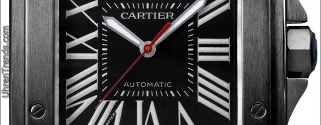 Cartier Santos 100 Carbon und Ballon Bleu De Cartier Carbon Uhren