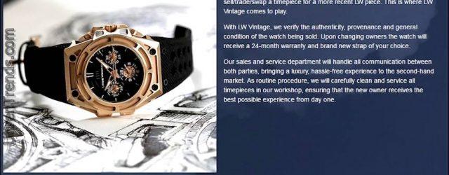 """Linde Werdelin führt """"LW Vintage"""" ein, den ersten markengeschützten Gebrauchtuhrenmarkt"""