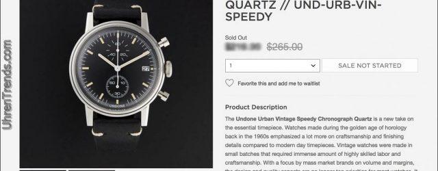 Undone Uhren auf Touch Of Modern