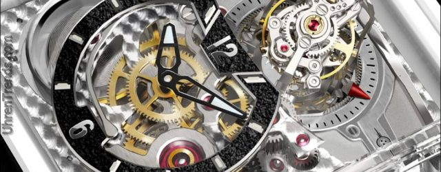 Cabestan Triple Axis Tourbillon volle Saphir Uhr