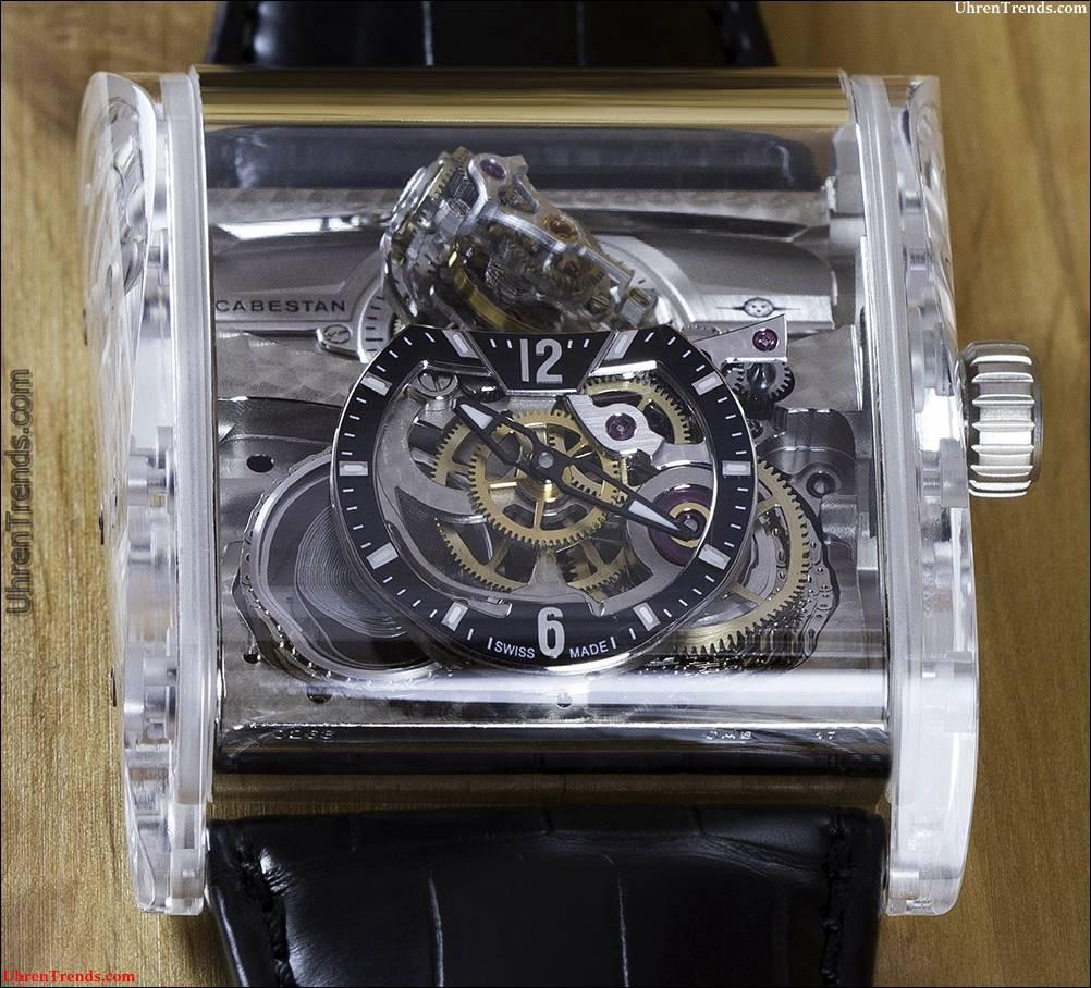Cabestan Triple Axis Tourbillon volle Saphir Uhr
