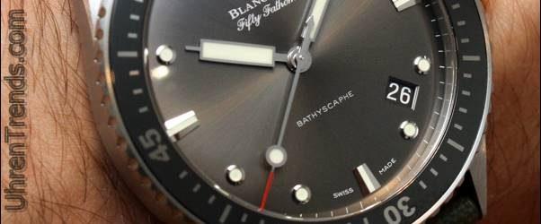Baselworld 2013: Die Blancpain Fifty Fathoms Bathyscaphe Uhr zum Anfassen