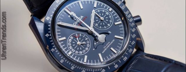 Omega Speedmaster 'Blue Seite des Mondes' Co-Axial Master Chronometer Chronograph Mondphase Uhr Hands-On