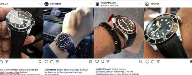 Gummi B Uhrenarmbänder für die Tudor Black Bay