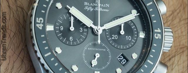 Blancpain Fifty Fathoms Bathyscaphe Flyback Chronograph Uhr Hands-On
