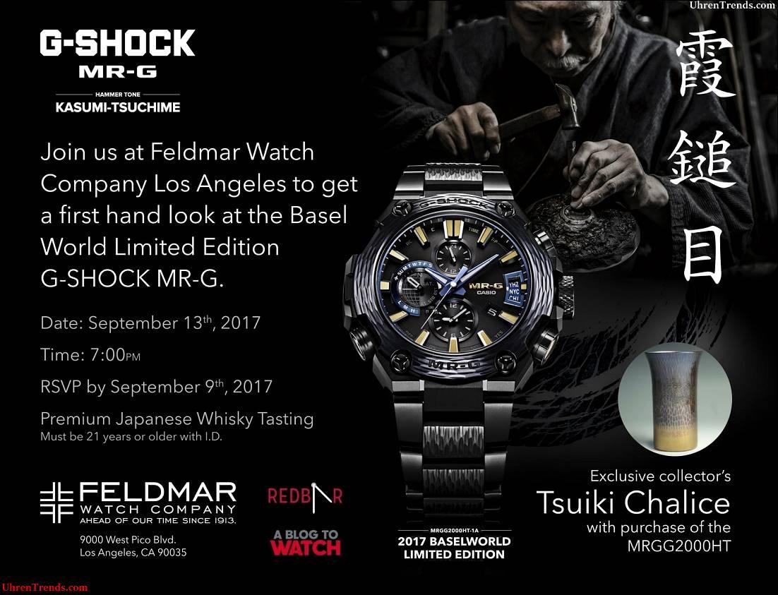 Los Angeles Watch Event: Casio G-Shock MR-G Hammer Ton & Japanischer Whisky @ Feldmar Uhr Co. Am 13. September 2017