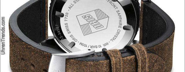 Oris Divers Sixty-Five Uhr mit grünem Zifferblatt