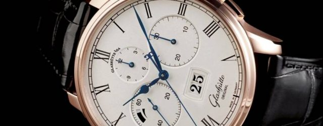 Glashütte Original Senator Chronograph Panoramadatum Uhr aus Stahl für 2017