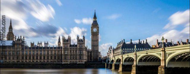 Londons Big Ben unter Reparatur