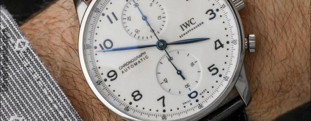 IWC Portugieser Chronograph Edition '150 Jahre' Uhr zum Anfassen