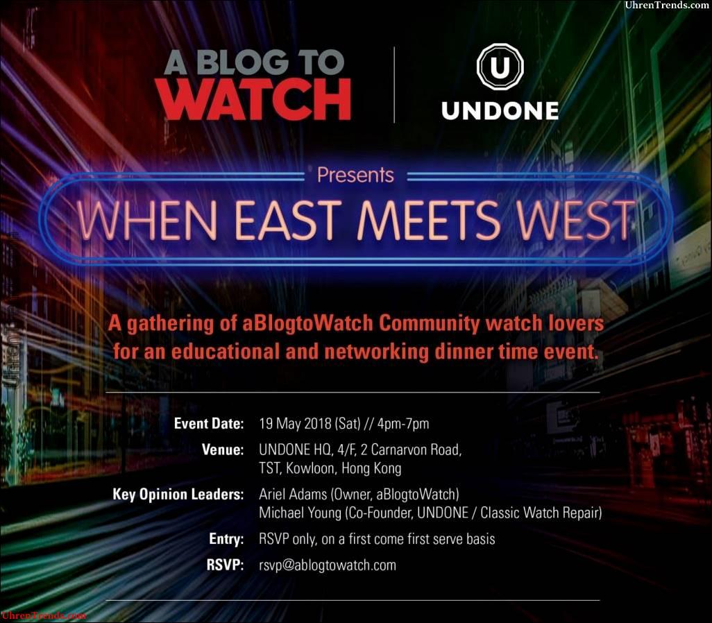 """Hong Kong-Ereignis-Einladung: aBlogtoWatch u. Verwarnen Uhren """", wenn Ost West trifft"""" 19. Mai 2018"""