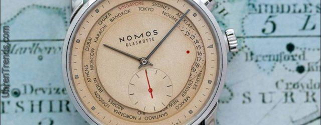 Nomos 'Red Dot' Limited Edition Zürich Weltzeituhr für Singapur