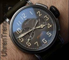 Zenit Heritage Pilot Ton-Up Uhr zum Anfassen