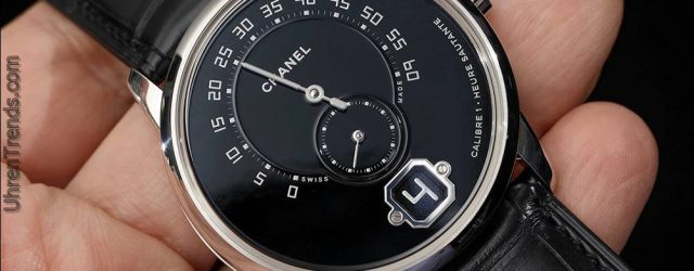 Chanel Monsieur De Chanel Uhr In Platin mit schwarzem Emaille Dial Hands-On