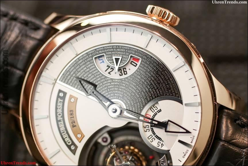 Greubel Forsey Tourbillon 24 Sekunden Edition Historique Uhr Hands-On