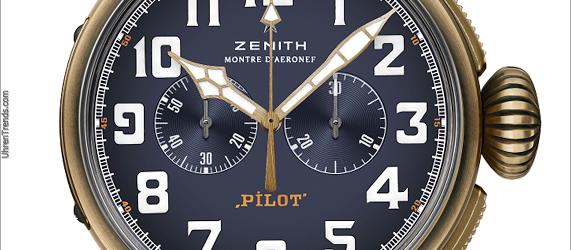 Zenith Pilot Typ 20 Extra Special Chronograph in Bronze mit blauem Zifferblatt