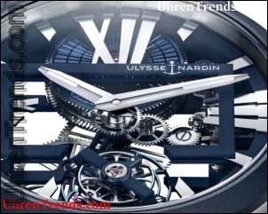 Ulysse Nardin Executive Skelett Tourbillon Blue Watch