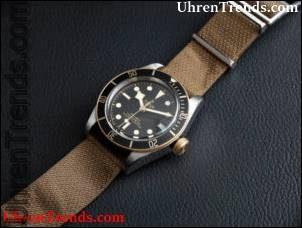 Tudor Heritage Black Bay S & G 79733N Zweifarbige Uhr zum Anfassen