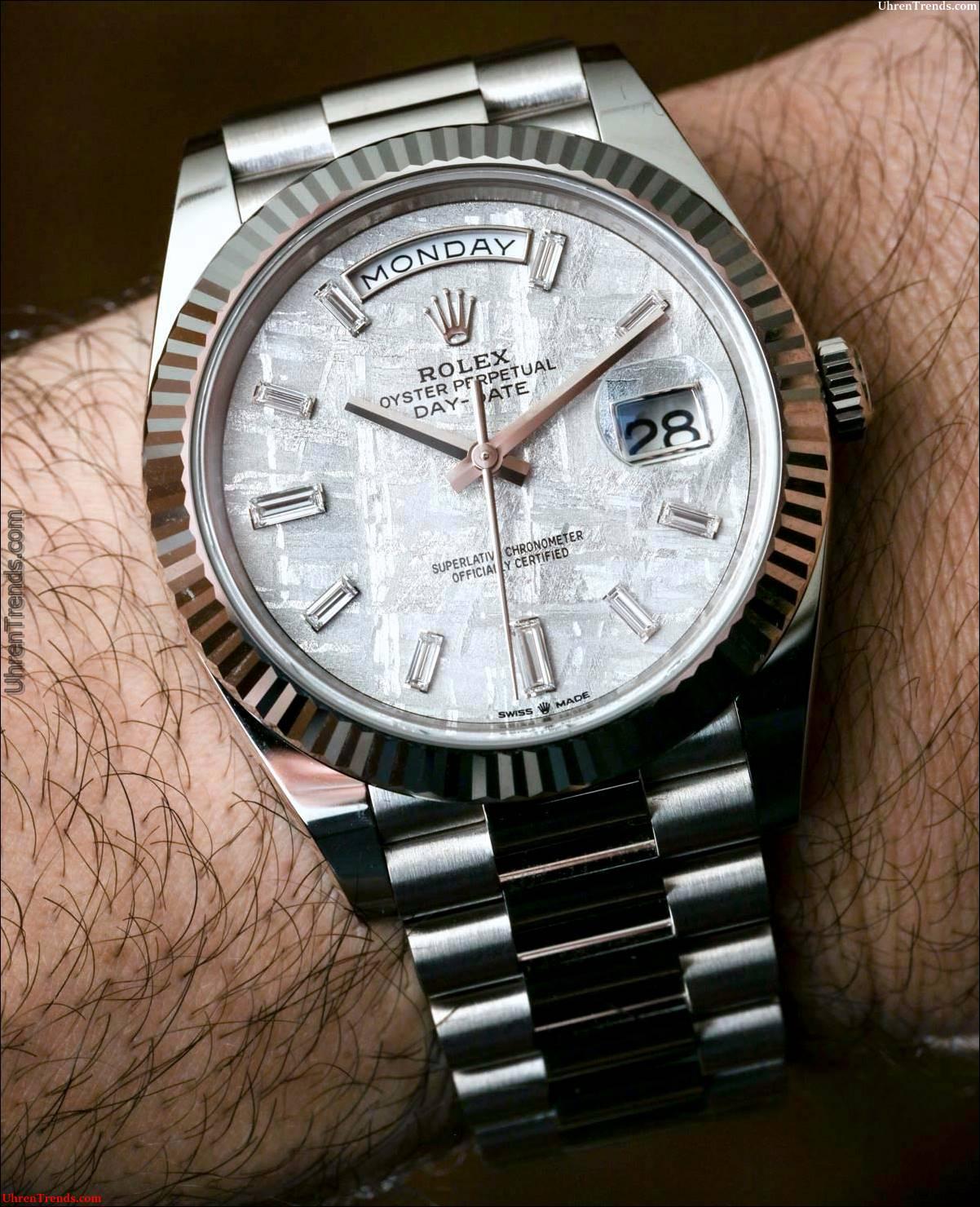 Rolex Day-Date 40 Weißgold Meteorit Dial 228239 Uhr Hands-On