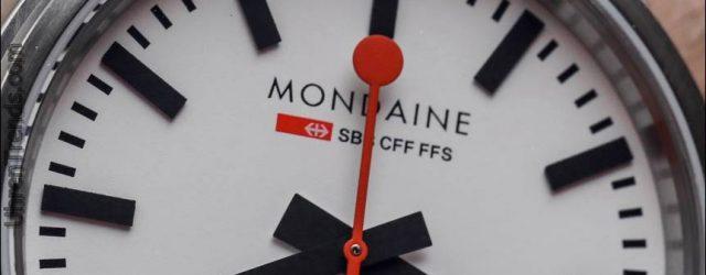 Mondaine Stop2Go Schweizerische Bundesbahn Uhr Hands-On