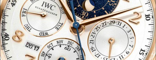 IWC Da Vinci Perpetual Calendar Chronograph Uhr Marks Rückkehr der Runde Da Vinci Case