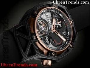 Hublot Techframe 70 Jahre Tourbillon Chronograph Uhr In PEEK Carbon & King Gold