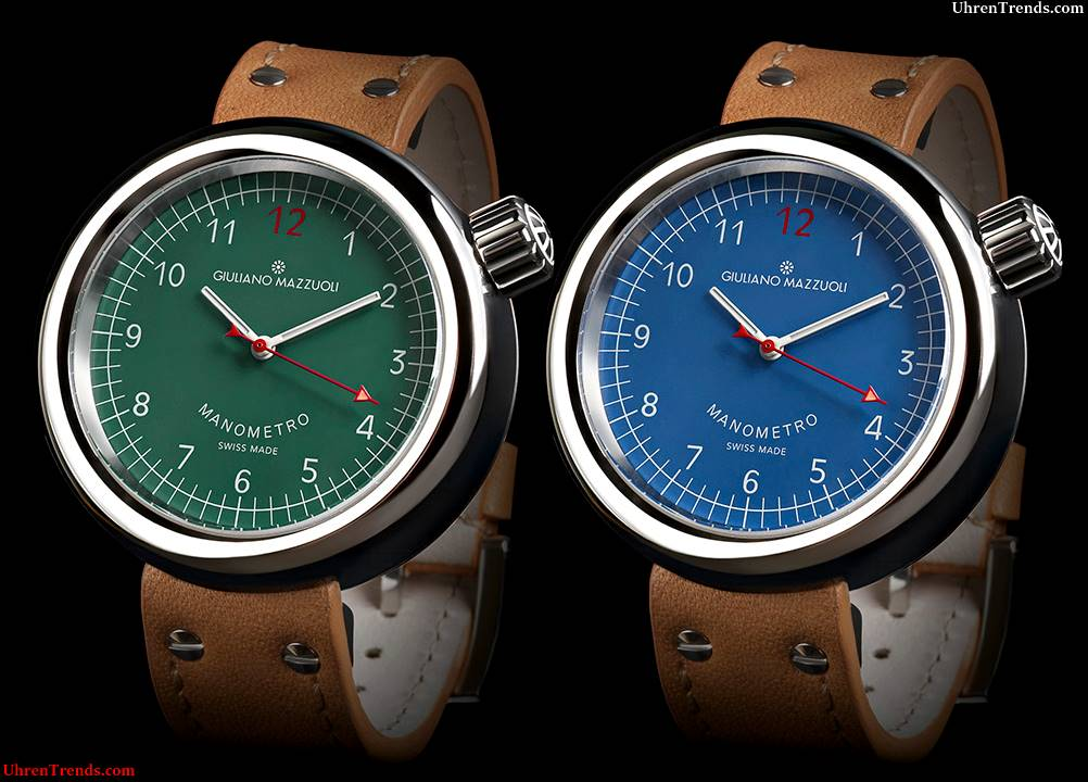 Giuliano Mazzuoli Manometro Uhr mit neuen Zifferblatt Farben