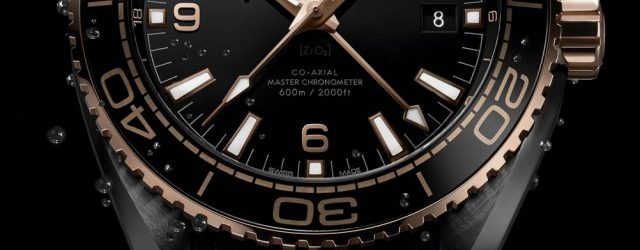 Omega Seamaster Planet Ocean GMT tiefe schwarze Uhren in Keramik