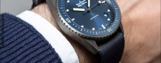 Blancpain Fifty Fathoms Bathyscaphe Blau & Keramik Uhr Hands-On