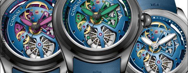 Corum Bubble 47 Squelette Uhr in hellen Farben für 2017