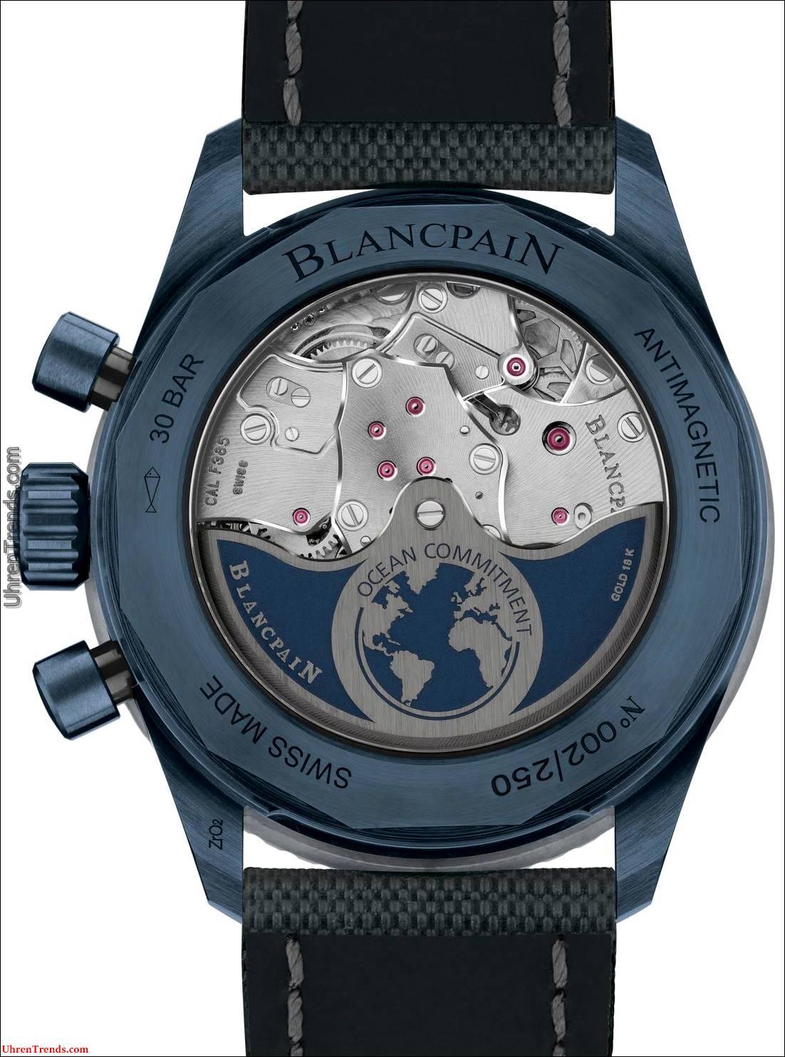 Blancpain Fifty Fathoms Bathyscaphe Flyback Chronograph Ocean Commitment II Jetzt im blauen Keramikgehäuse