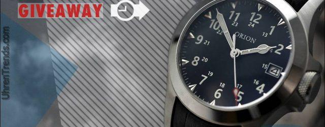 Gewinner angekündigt: Orion Field Standard Automatikuhr Werbegeschenk