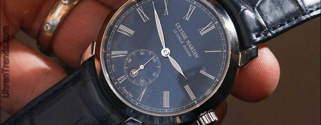 Ulysse Nardin Classico Manufaktur 'Grand Feu' Blaue Emaille Zifferblatt Uhr Hands-On