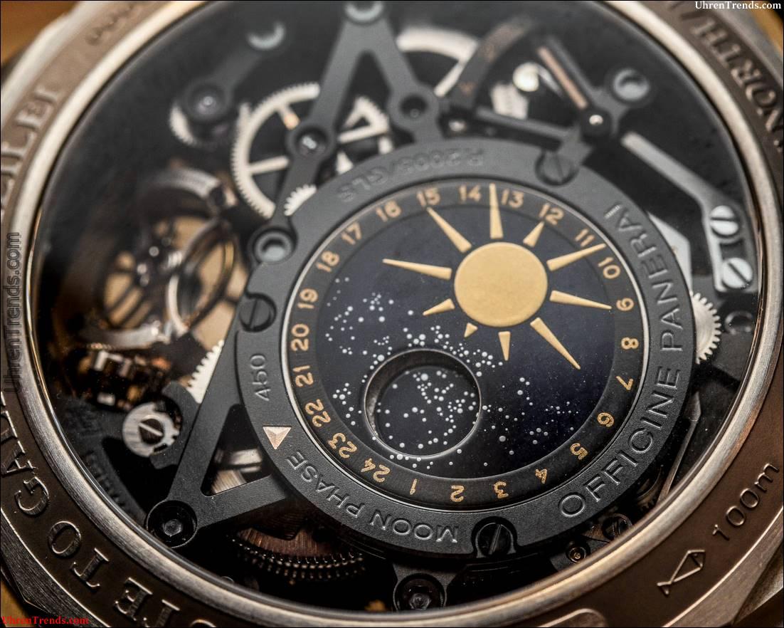 Panerai L'Astronomo Luminor 1950 Tourbillon Mondphasengleichung der Zeit GMT PAM00920 Hands-On