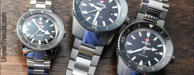Rado Captain Cook 37mm & 45mm Uhren für 2017 Hands-On