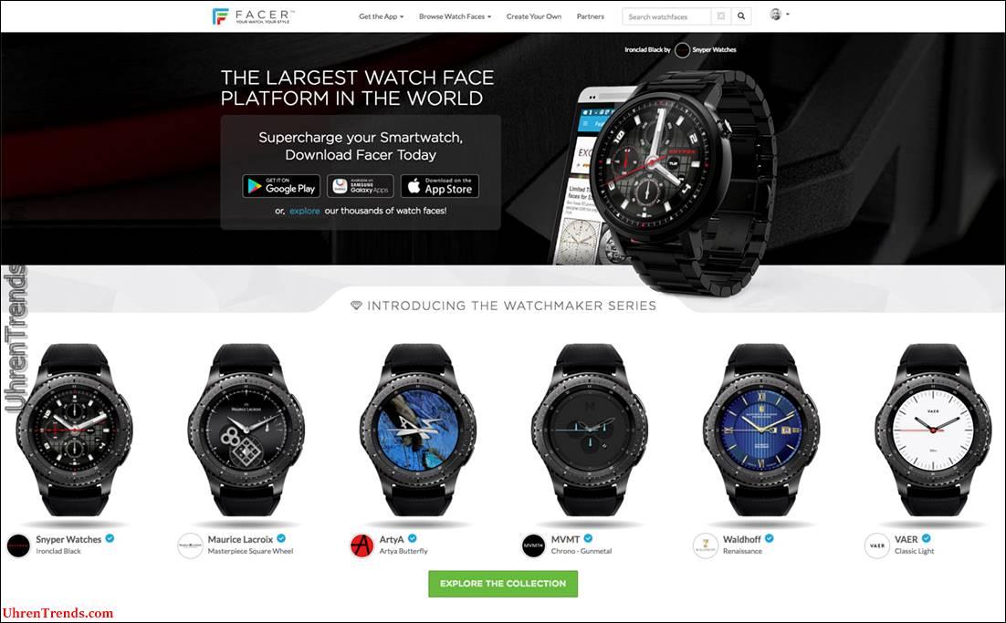 """Facer 4.0 Smartwatch Gesichter mit """"offiziellen"""" Ziffern von traditionellen Uhrenmarken"""